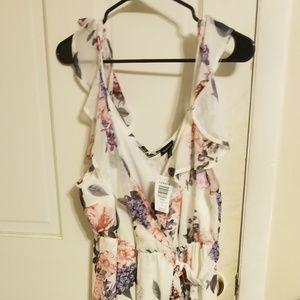 Torrid white floral dress